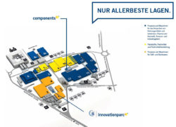Innovationparc-Geländeplan